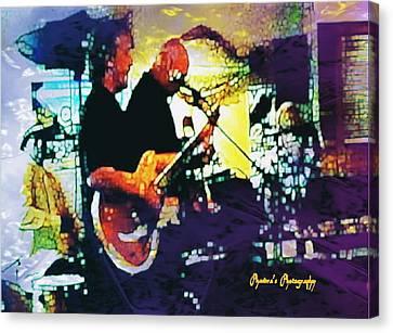 Jazz Scene Canvas Print by Sadie Reneau