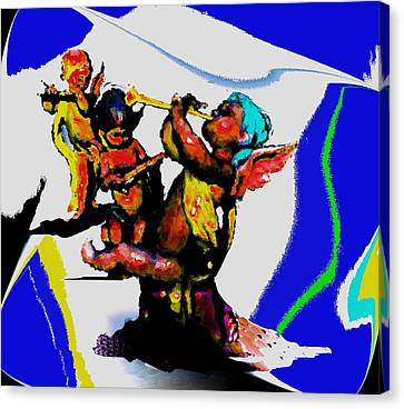 Jazz Trio At The Cloud Bar Canvas Print by Merlin Neff