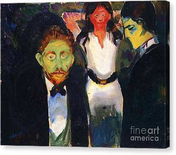Jealousy Canvas Print by Pg Reproductions