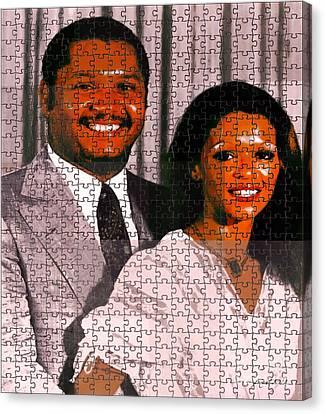 Haiti Canvas Print - Jean Claude Et Michelle Bennette Duvalier by Fania Simon