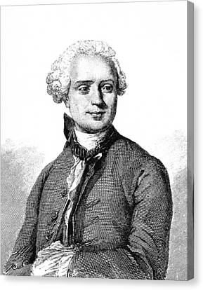 Jean D'alembert, French Mathematician Canvas Print by