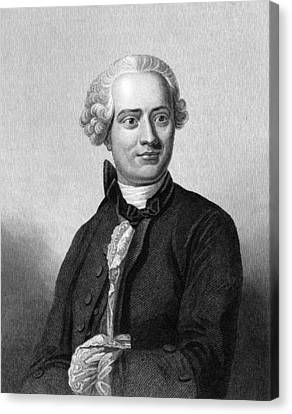 Jean D'alembert, French Mathematician Canvas Print by Middle Temple Library