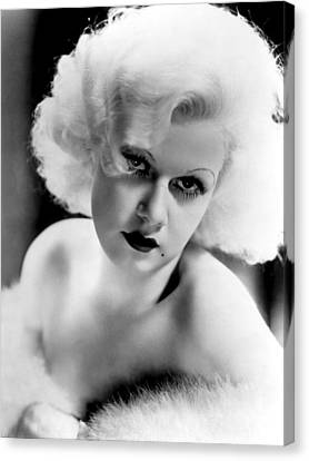 Jean Harlow, Ca. 1932-33 Canvas Print by Everett