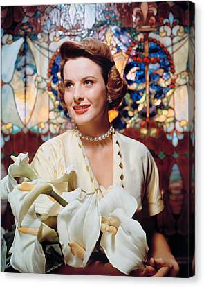 Jean Peters, 1950s Portrait Canvas Print