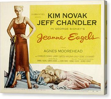 Jeanne Eagels, Kim Novak, Jeff Canvas Print