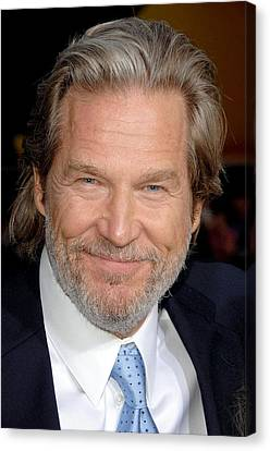 Jeff Bridges At Arrivals For Premiere Canvas Print by Everett