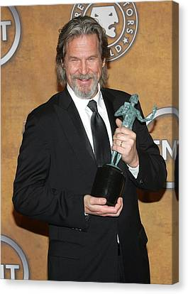 Jeff Bridges In The Press Room For 16th Canvas Print by Everett