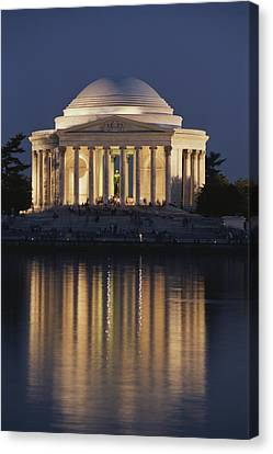 Jefferson Memorial, Night View Canvas Print by Richard Nowitz