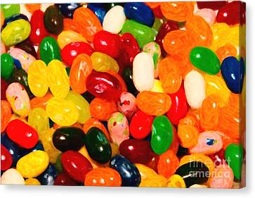 Jelly Belly - Painterly Canvas Print by Wingsdomain Art and Photography
