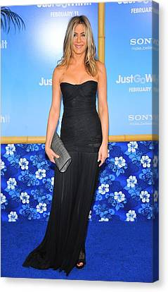 Jennifer Aniston Wearing A Dolce Canvas Print by Everett