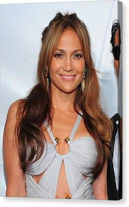 Jennifer Lopez Wearing An Emilio Pucci Canvas Print by Everett