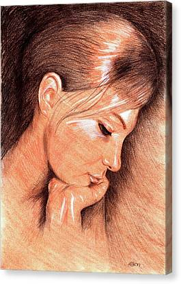Jenny Canvas Print by Hakon Soreide