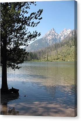 Canvas Print featuring the photograph Jenny Lake And The Beauty Of The Grand Tetons by Shawn Hughes