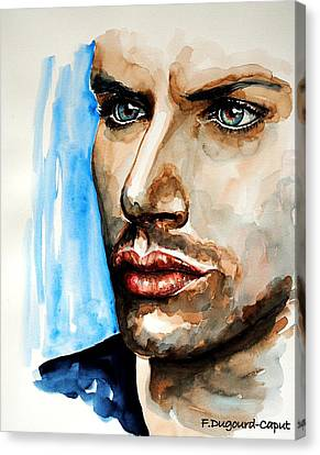 Jensen Ackles Canvas Print by Francoise Dugourd-Caput