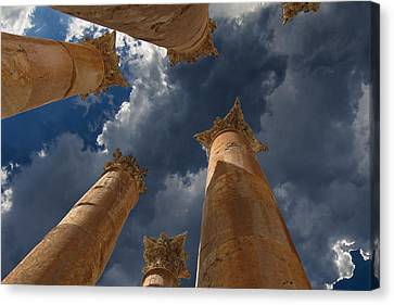 Canvas Print featuring the photograph Jerash by David Gleeson