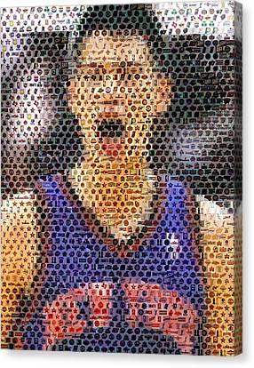 Jeremy Lin Mosaic Canvas Print by Paul Van Scott