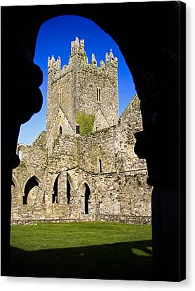 Jerpoint Abbey In Kilkenny Canvas Print by Chris Hill