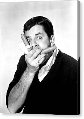Jerry Lewis, Portrait Canvas Print by Everett