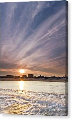 Jersey Shore Wildwood Crest Sunset Canvas Print by Dustin K Ryan