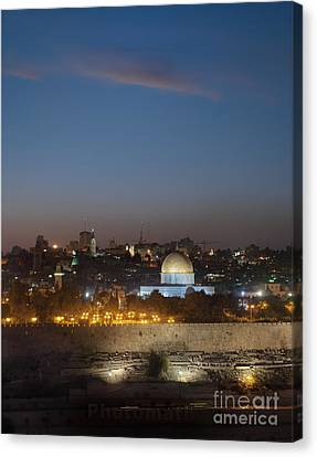 Jerusalem And The Dome Of The Rock Canvas Print by Noam Armonn