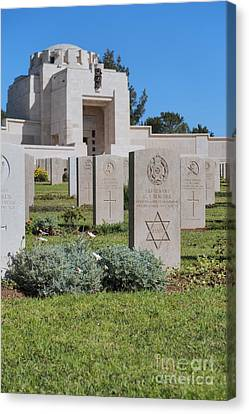 Jerusalem British War Cemetery Canvas Print by Noam Armonn