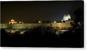 Jerusalem- City On A Hill Canvas Print