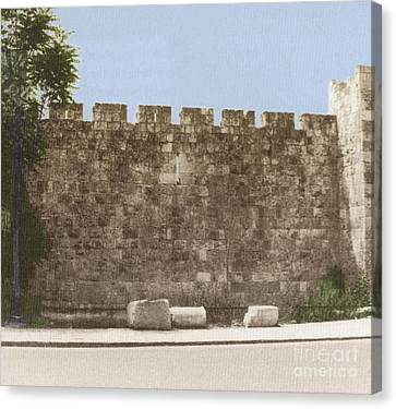 Jerusalem City Wall, Historic Site Canvas Print by Photo Researchers