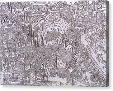 Jerusalem Iv Canvas Print by Yuriy Mkhitaryants