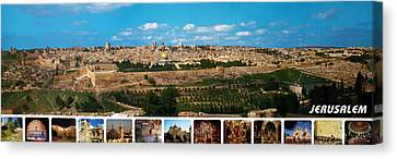 Jerusalem Poster Canvas Print by Munir Alawi
