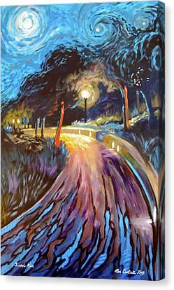 Jerusalem Promenade At Sukkot Canvas Print by Ron Cantrell