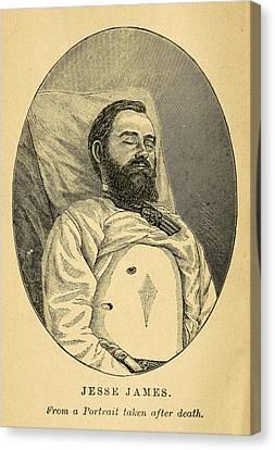 Jesse James, After His Death Canvas Print