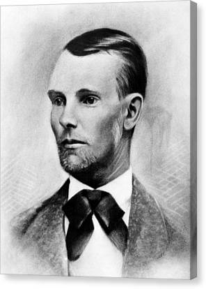 Jesse James, The Western Outlaw Canvas Print by Everett