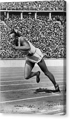 Footrace Canvas Print - Jesse Owens (1913-1980) by Granger