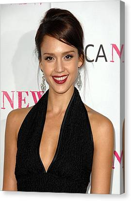 Jessica Alba At Arrivals For Moca 30th Canvas Print by Everett