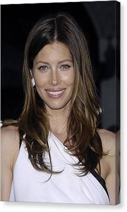 Jessica Biel At Arrivals For The A-team Canvas Print by Everett