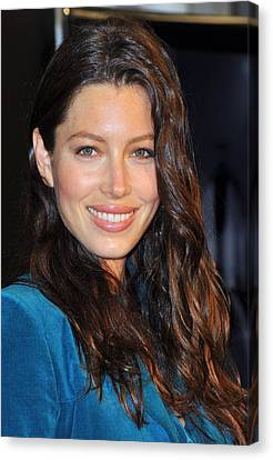 Jessica Biel At In-store Appearance Canvas Print