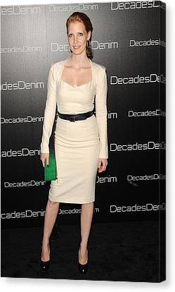 Jessica Chastain At Arrivals Canvas Print by Everett