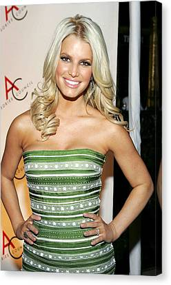 Jessica Simpson At Arrivals For 10th Canvas Print by Everett