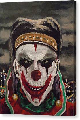 Canvas Print featuring the painting Jester's Night by James Guentner