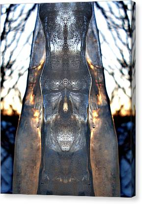 Jesus In An Icicle Canvas Print by Wesley Hahn