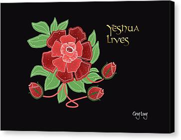 Jesus Lives Canvas Print by Greg Long