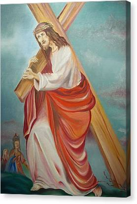 Jesus Canvas Print by Prasenjit Dhar