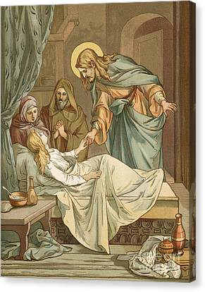 Jesus Raising Jairus's Daughter Canvas Print by John Lawson