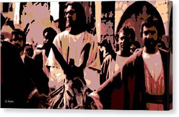 Jesus Rides Into Jerusalem Canvas Print by George Pedro