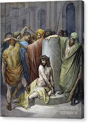 Jesus: Scourging Canvas Print by Granger