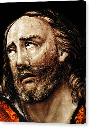 Jesus Tears Canvas Print by Munir Alawi