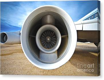 Jet Engine Canvas Print by Eddy Joaquim