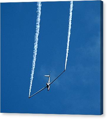 Jet Powered Glider Canvas Print by Nick Kloepping