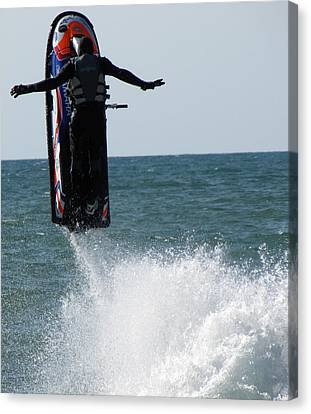 Canvas Print featuring the photograph Jet Ski by John Crothers