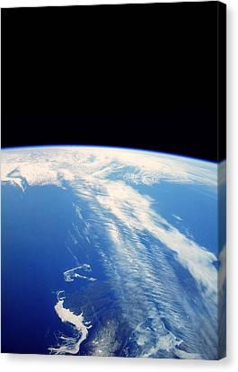 Jet Stream Clouds Canvas Print by Nasa